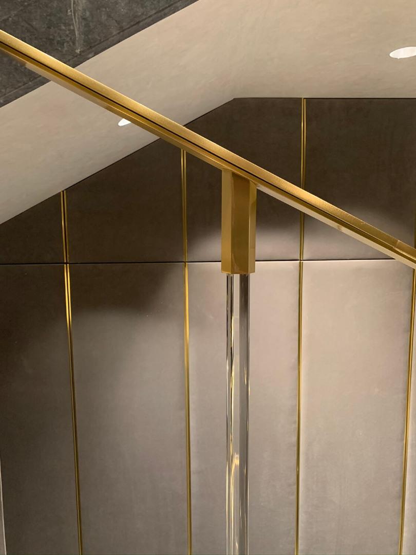 Balustrada alama și bare de sticlă  Lucrare 08 - 4