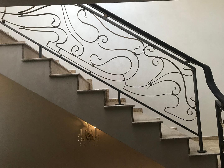 Balustrada Art Nouveau- Alama patinată - Lucrare 04 - 2