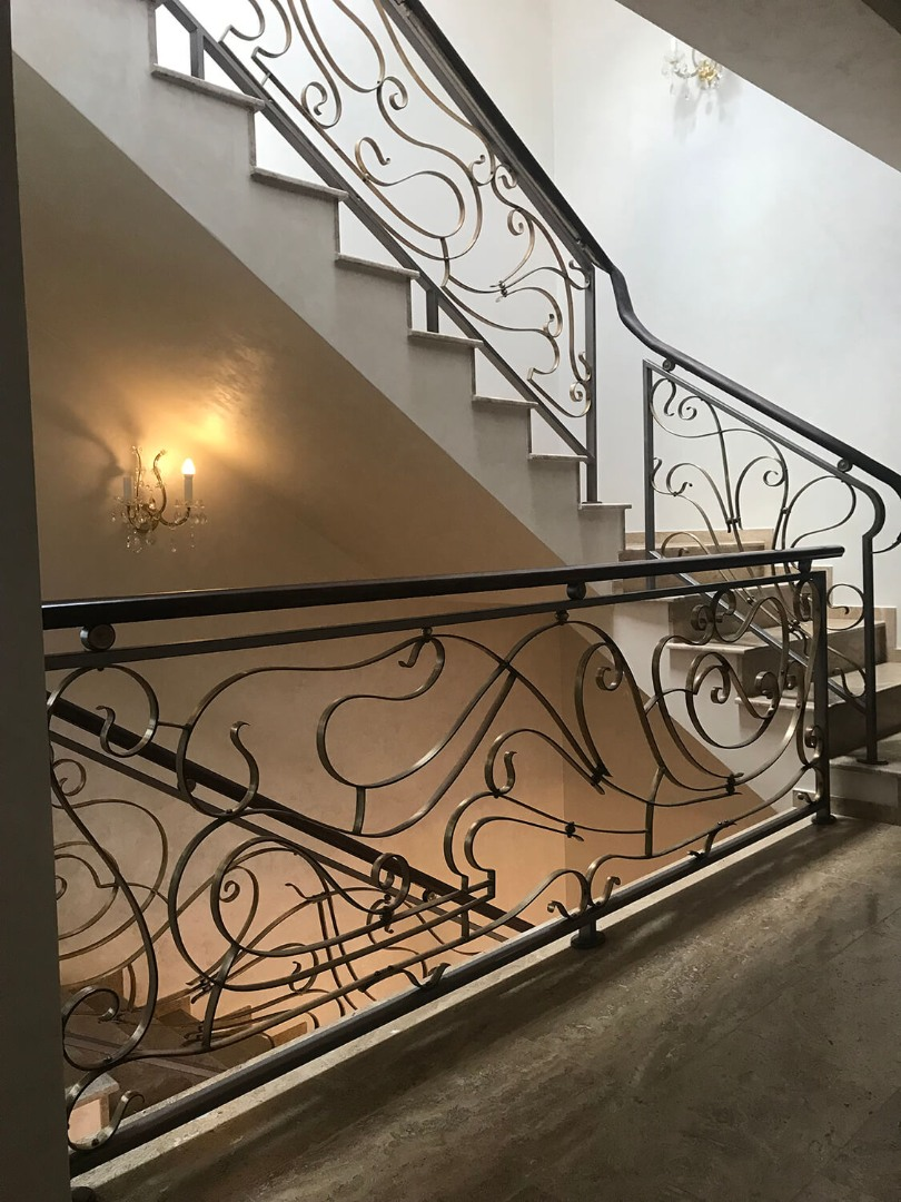 Balustrada Art Nouveau- Alama patinată - Lucrare 04