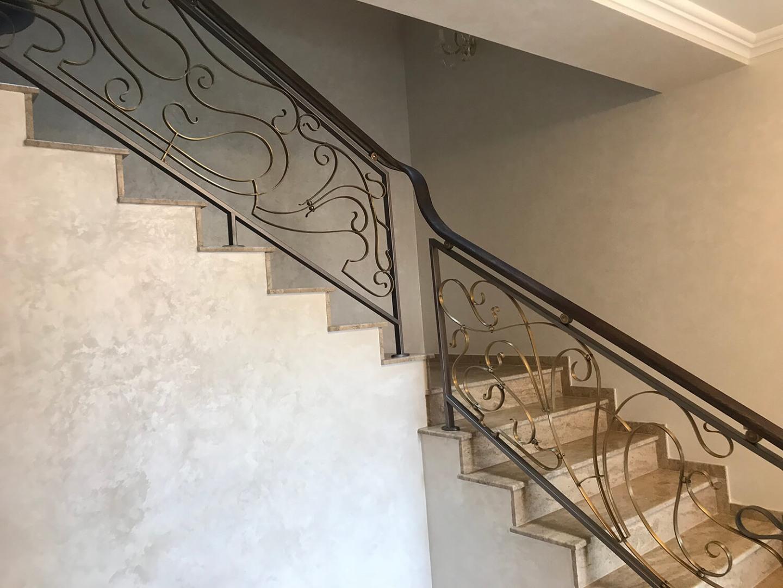 Balustrada Art Nouveau- Alama patinată - Lucrare 04 - 5