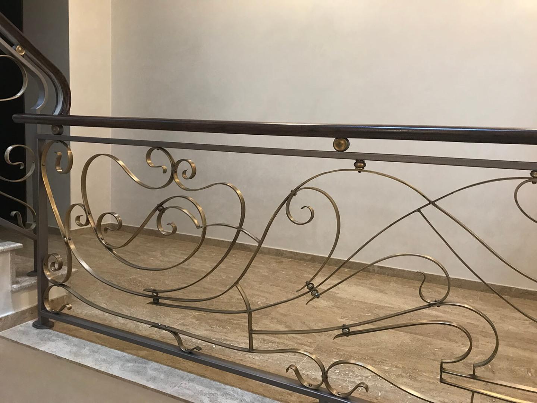 Balustrada Art Nouveau- Alama patinată - Lucrare 04 - 4