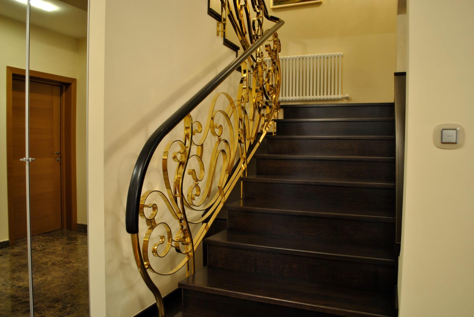 Balustrada Art -nouveau alamă - 2