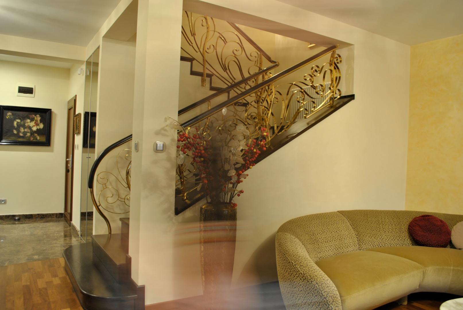 Balustrada Art -nouveau alamă - 3