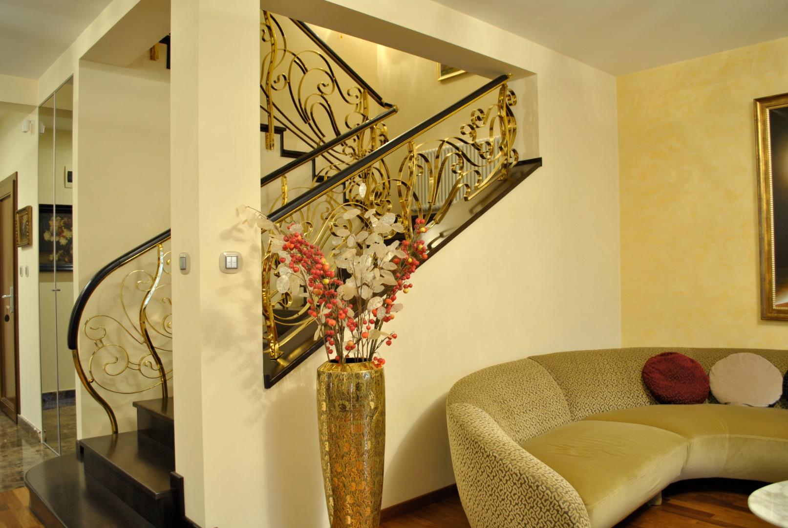 Balustrada Art -nouveau alamă - 4