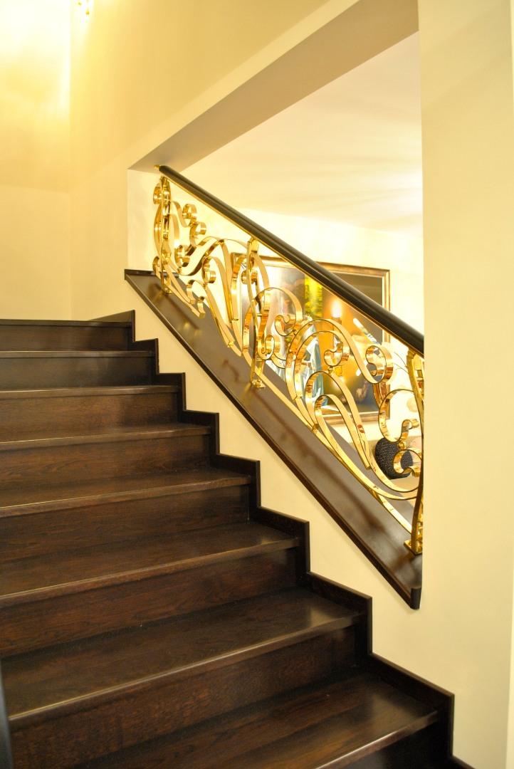Balustrada Art -nouveau alamă - 6