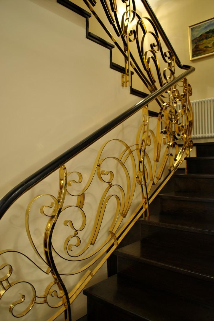 Balustrada Art -nouveau alamă - 7