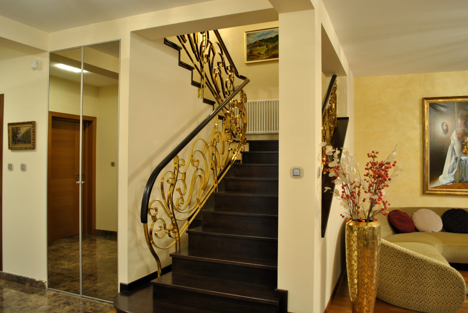 Balustrada Art -nouveau alamă - 8