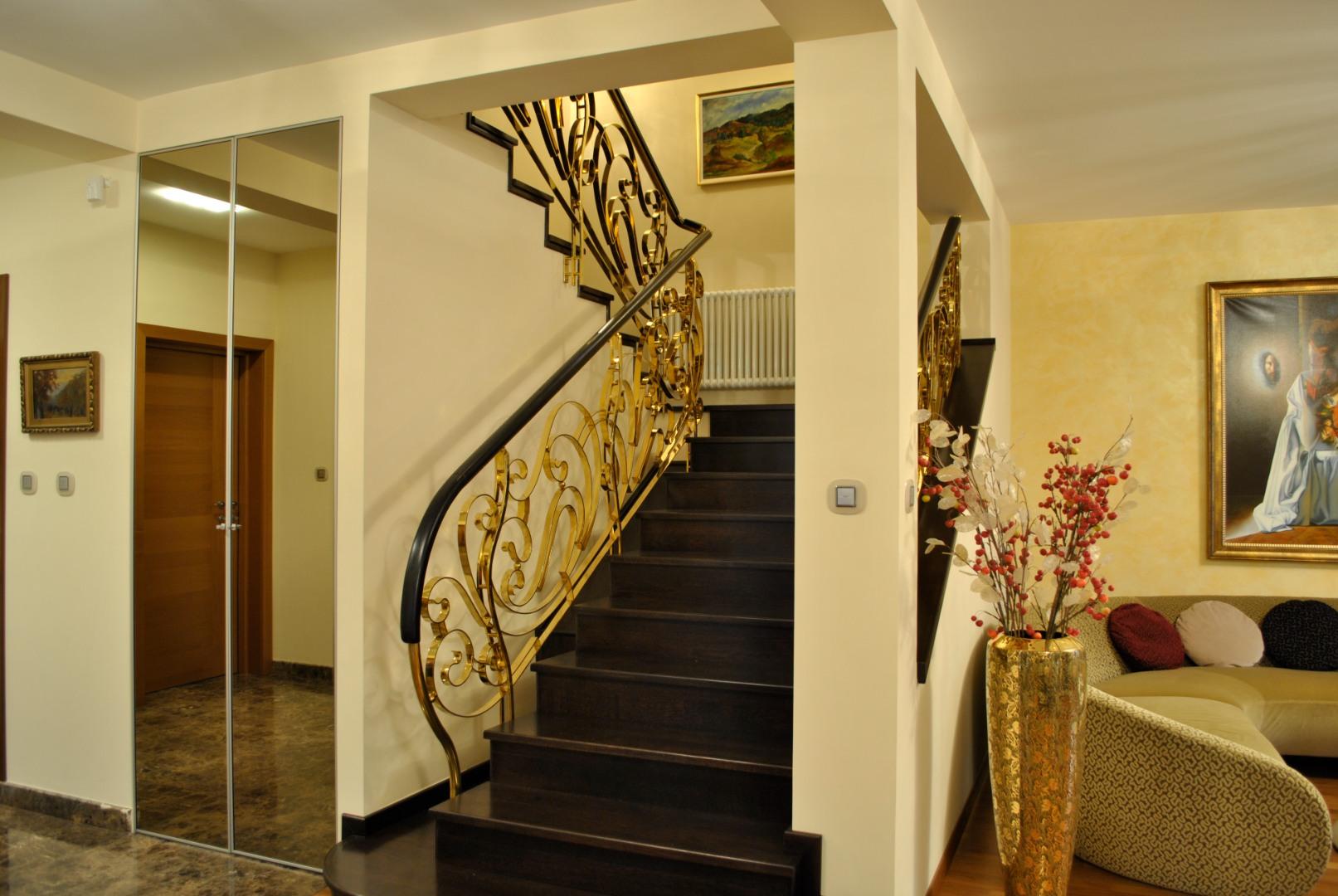 Balustrada Art -nouveau alamă - 9