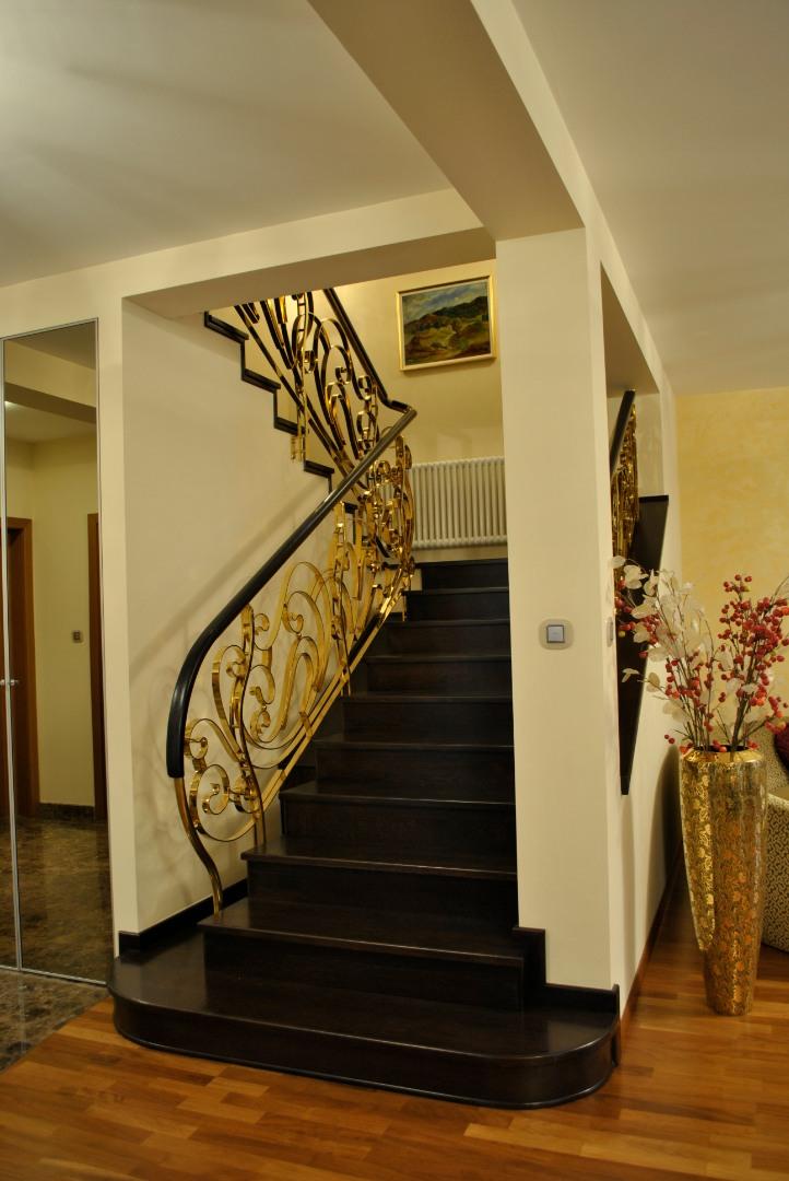 Balustrada Art -nouveau alamă - 10