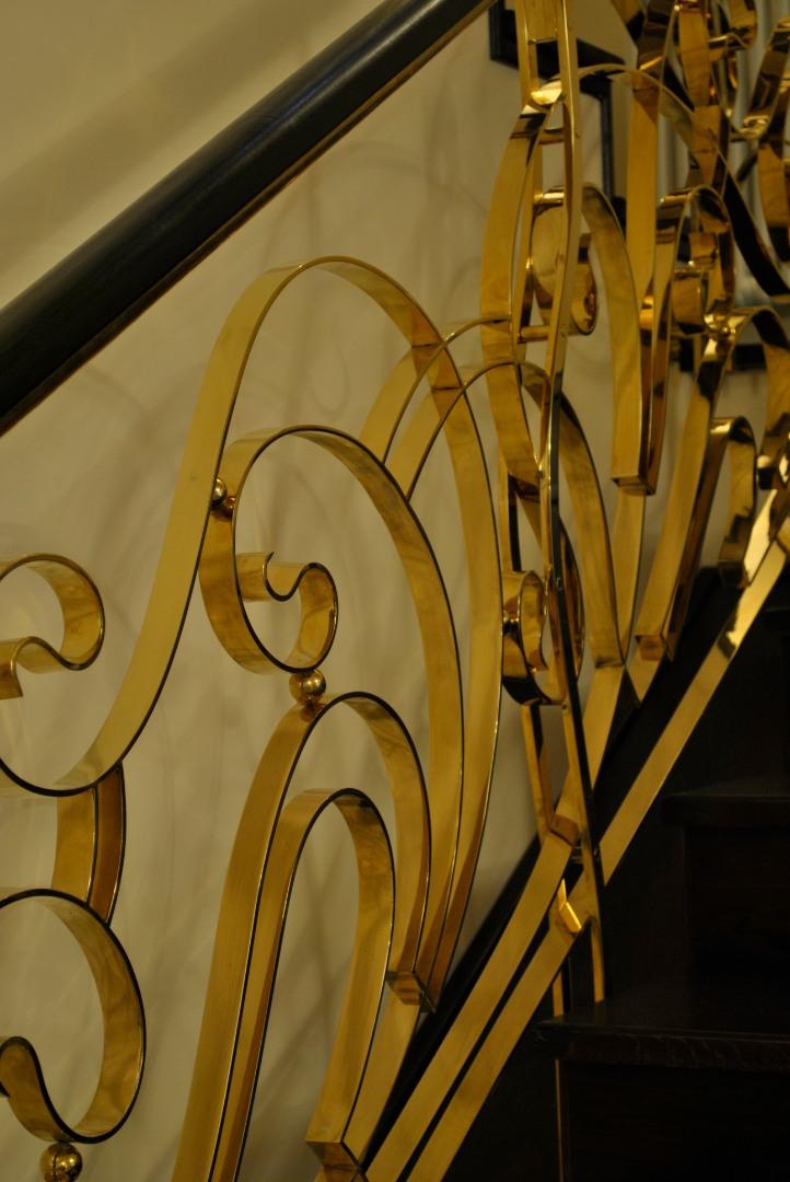 Balustrada Art -nouveau alamă - 11