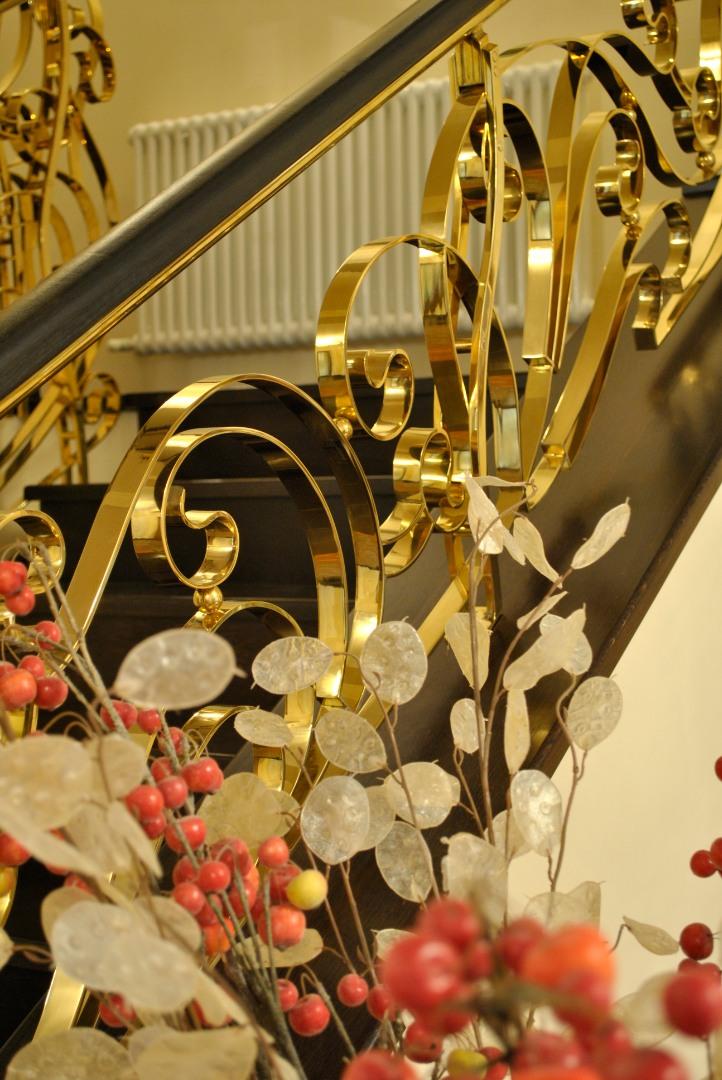 Balustrada Art -nouveau alamă - 13