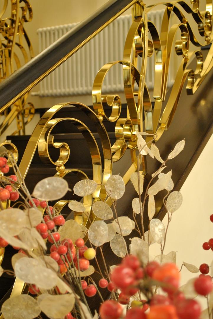 Balustrada Art -nouveau alamă - 14