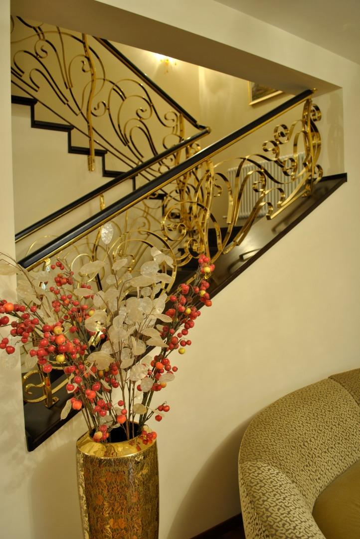 Balustrada Art -nouveau alamă - 15